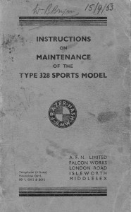 BMW 328 Maintenance Instructions